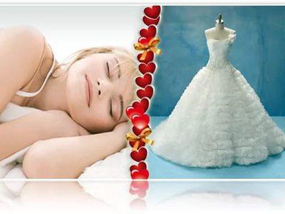 Сонник в свадебном платье себя видеть замужней
